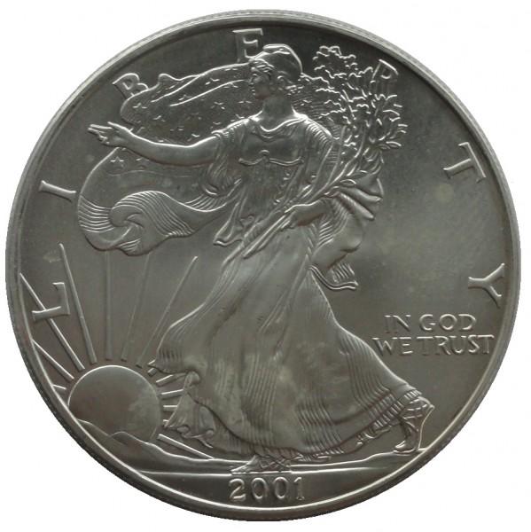 USA 1 Dollar 1 Oz Silber Eagle 2001