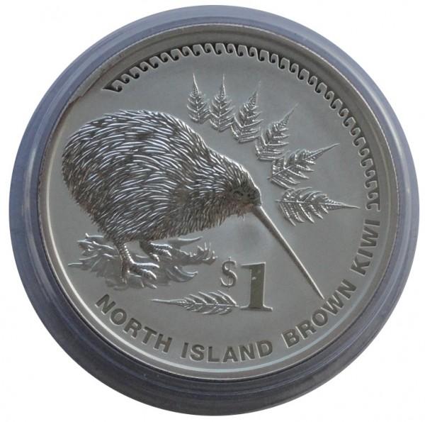 Neuseeland 1 Oz Silber Kiwi 2006 St Münzkapsel