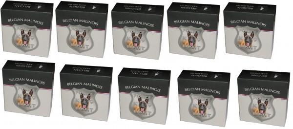 Niue 10 x 1 Oz Silber Belgian Malinois / Belgischer Schäferhund 2016 im Etui