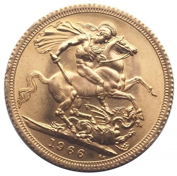 Gold Sovereign 1 Pfund Goldmünze Queen Elisabeth II