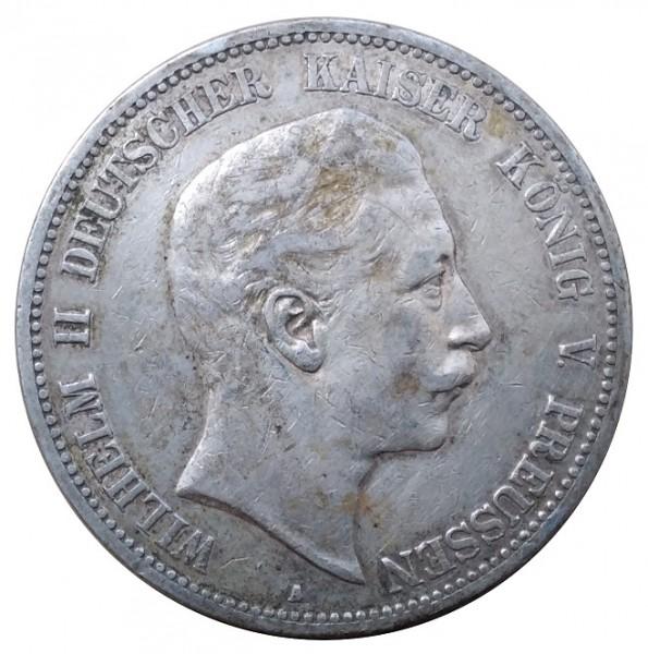 Deutsches Kaiserreich 5 Mark Silber Kaiser Wilhelm II 1903 A