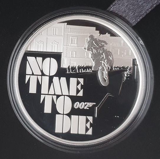 Tuvalu 1 Oz Silber James Bond 007 No Time to Die 2020 Polierte Platte