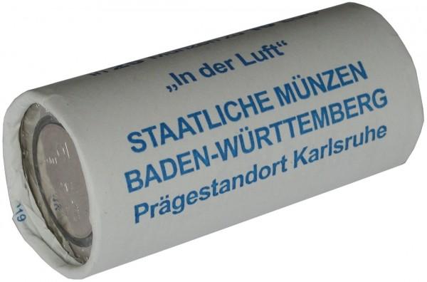25 x 10 Euro Münze in der Luft 2019 G Karlsruhe Stempelglanz Münzrolle