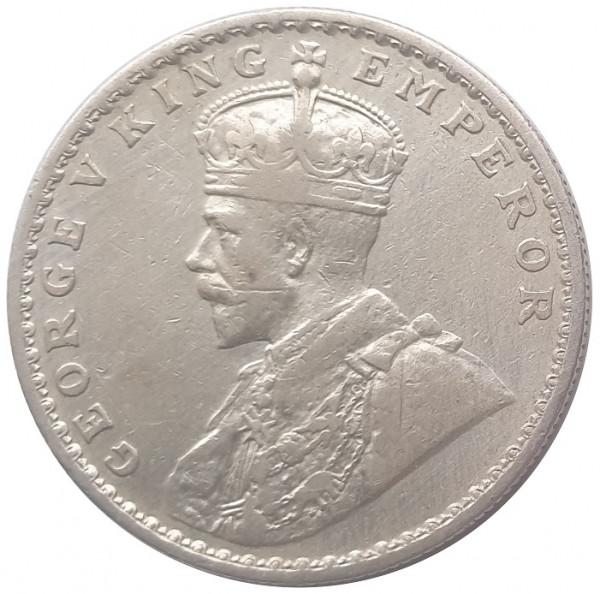 Britisch Indien 1 Rupie Silber 1917 König Georg V