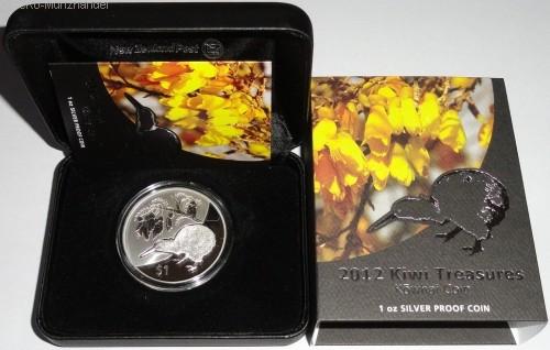 Neuseeland 1 Oz Silber Silber Kiwi 2012 PP Etui