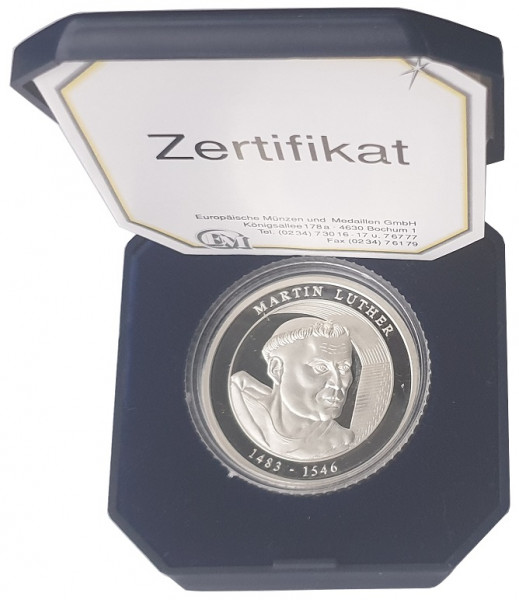Silbermedaille Martin Luther - 475. Jahrestag der 95 Thesen