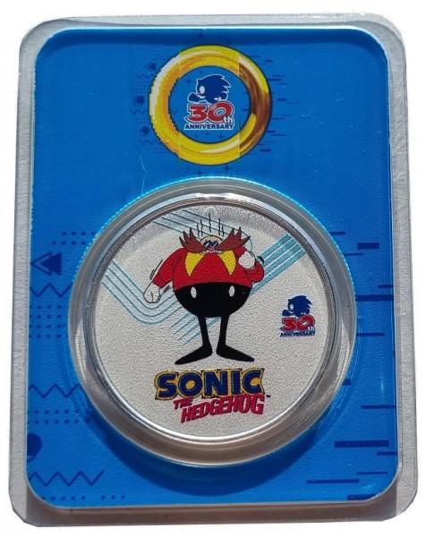 Niue 1 Oz Silber Sonic the Hedgehog Dr Eggman 2021 Farbe Color im Slap nur 3.700 Stück!
