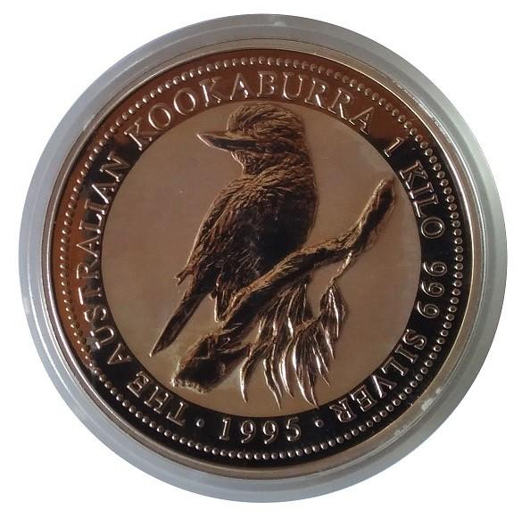 Australien 1 KG Silbermünze Kookaburra 1995 Silber - Anlagemünze