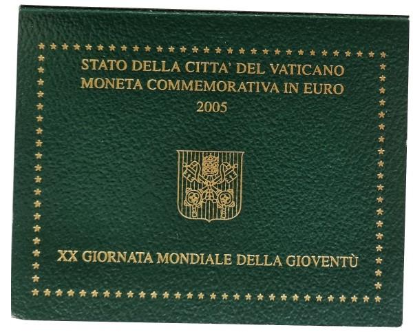Vatikan 2 Euro Gedenkmünze Kölner Dom (Weltjugendtag) 2005 im Blister