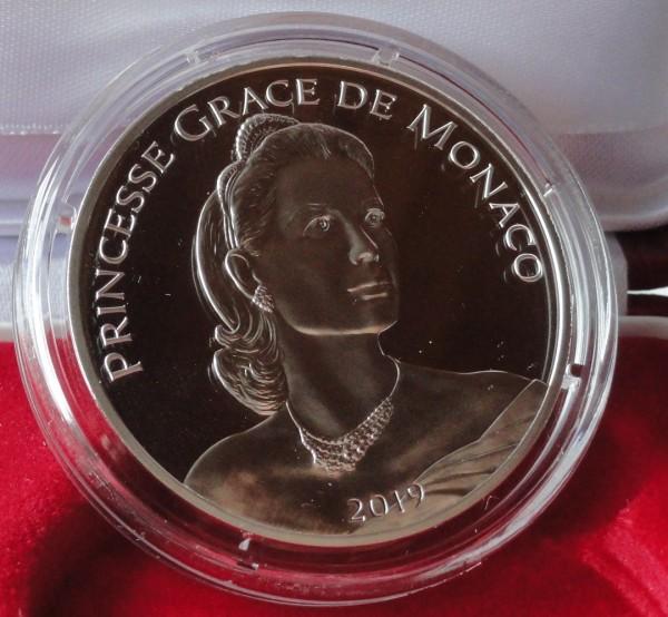 10 Euro Silber Grace Kelly 2019 Polierte Platte 90. Geburtstag Monaco