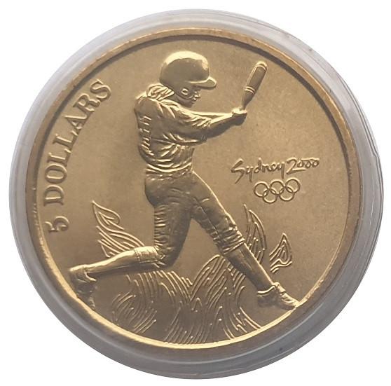 Australien 5 Dollars Sydney 2000 Olympic Games Baseball