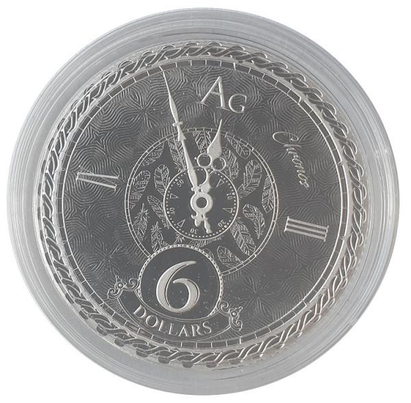 Tokelau 1 Oz Silber Chronos 2020 Münzkapsel Prooflike