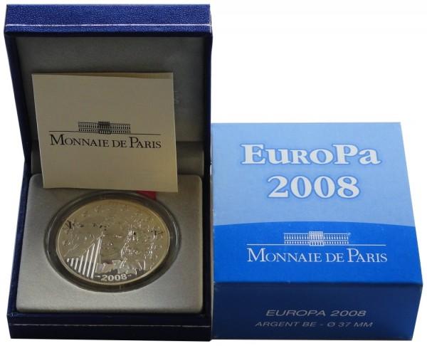 Frankreich 1,5 Euro Silber Europa EU-Ratspräsidentschaft 2008 Polierte Platte im Etui