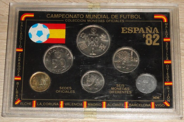 KMS 1980 Spanien - Spain Kursmünzensatz Fussball WM 1982