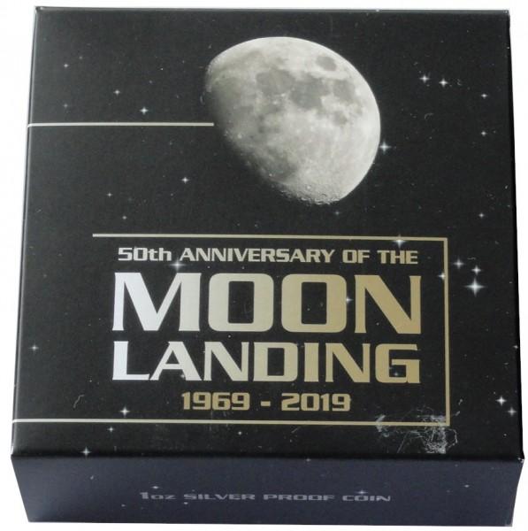 Australien 1 Oz Silber 50 Jahre Mondlandung 2019 Polierte Platte