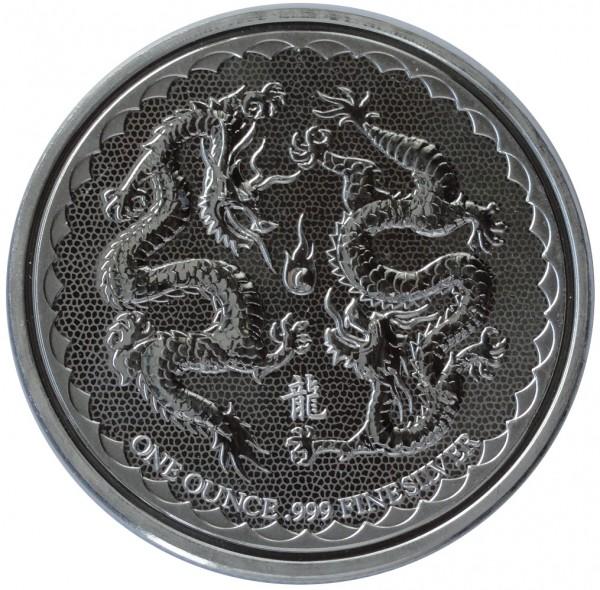 1 Oz Silber Niue Double Dragon 2018 Silbermünze