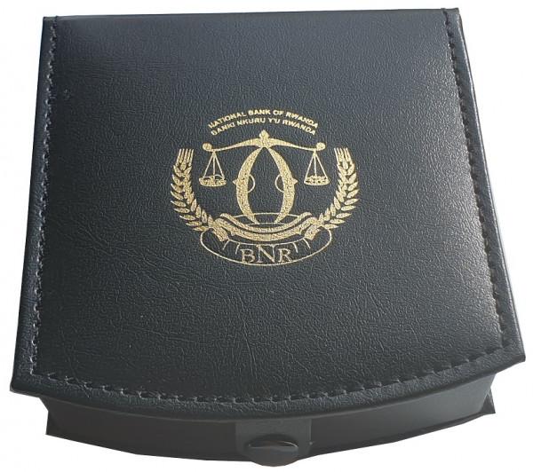 Original schwarzes Münzetui für Ruanda Münzen - BNR National Bank von Ruanda