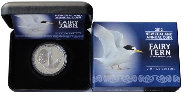 Neuseeland 1 Oz Silber Fairy Tern Seeschwalbe 2012 Polierte Platte