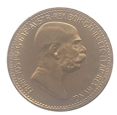 10 Corona Gold Franz Joseph I 1908 Regierungsjubiläum Goldmünze Österreich