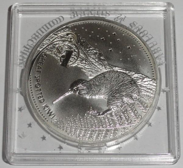 Neuseeland 1 Oz Silber Kiwi 2007 St Münzkapsel