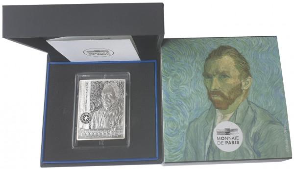 10 Euro Silber Vincent van Gogh Selbstportrait Frankreich 2020 Proof Finish im Etui