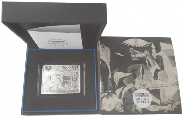 10 Euro Silber Guernica Picasso Frankreich 2020 Proof Finish im Etui