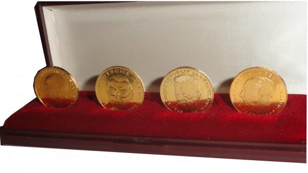 BRD 4 x 2 DM vergoldet im Etui 40 Jahre Deutschland