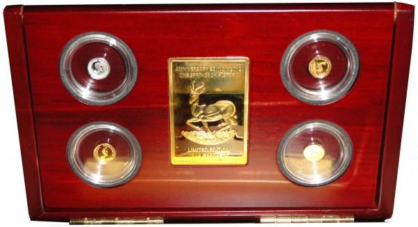 Gabun Gold - Silber Investment Coin Set Springbock 2013 Premium Collection 2012