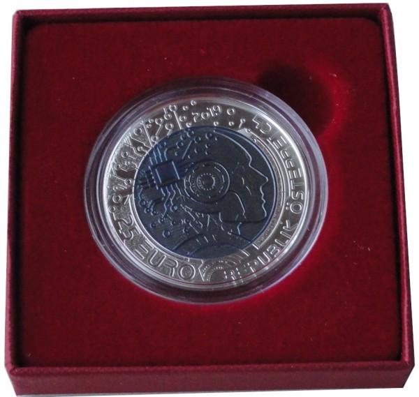 Österreich 25 Euro Silber Niob Münze Künstliche Intelligenz 2019 Handgehoben