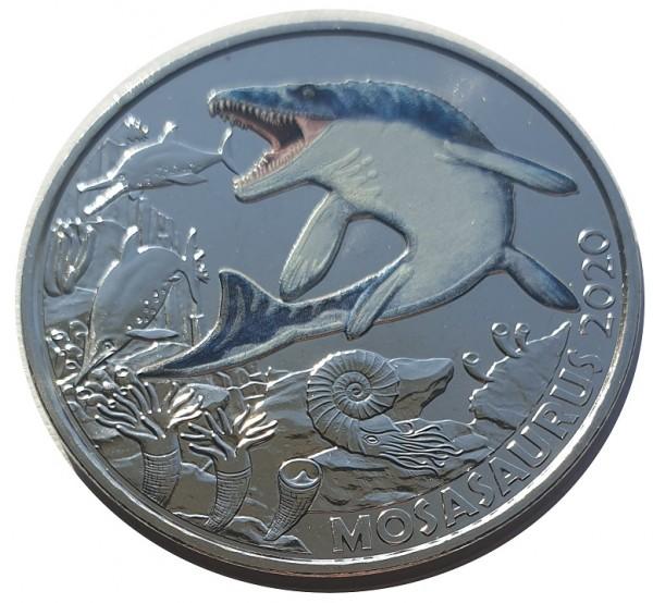 3 Euro Hoffmanni Mosasaurus 2020 - Dino-Taler-Serie aus Österreich Dinosaurier
