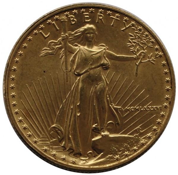 1/2 Oz Gold American Eagle 25 Dollars Goldmünze USA