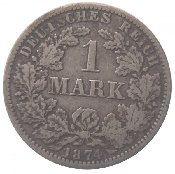 Deutsches Kaiserreich 1 Mark Silbermünze 5,56 gr 900/1000 Silber