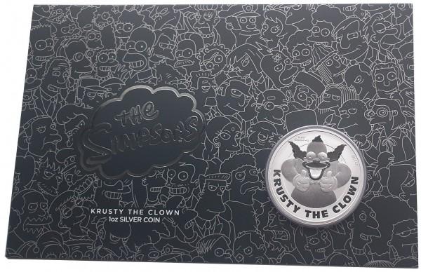 1 Unze Silber Krusty der Clown 2020 BU im Blister - Tuvalu The Simpsons