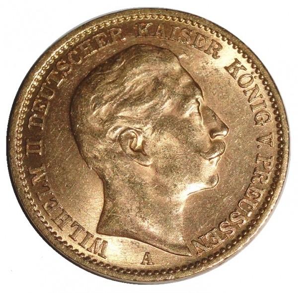 Deutsches Kaiserreich Goldmünze 20 Goldmark Wilhelm II