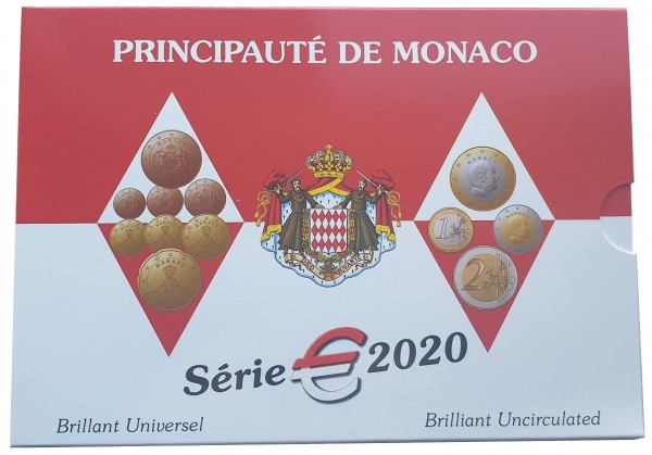 Monaco 3,88 Euro Kursmünzensatz 2020 BU im Folder