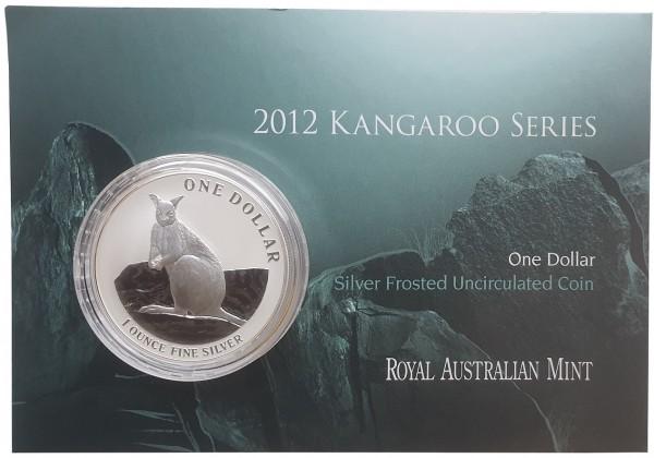 1 Oz Silber Känguru 2012 im Blister - Frosted Unzirkuliert aus Australien