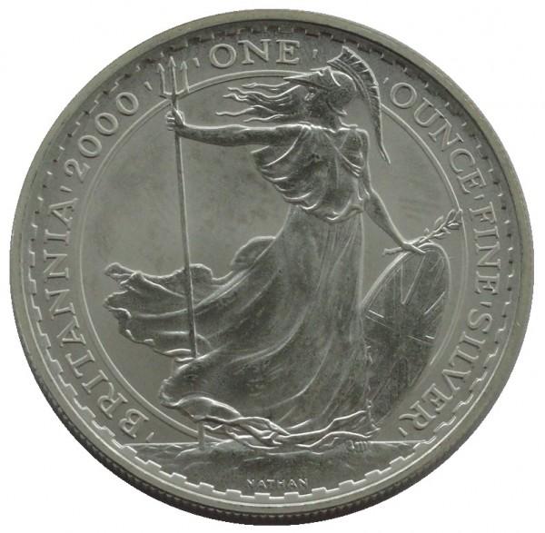 Großbritannien 2 Pounds 1 Oz Silber Britannia 2000