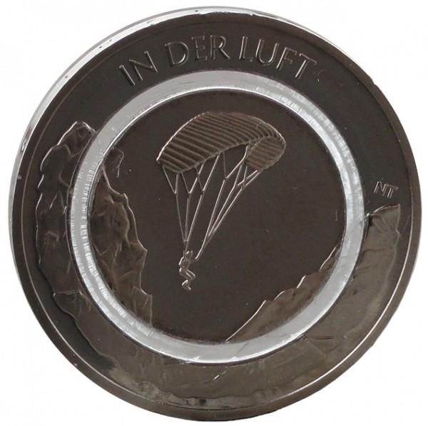 10 Euro Münze in der Luft 2019 Stempelglanz mit farblosen Polymerring