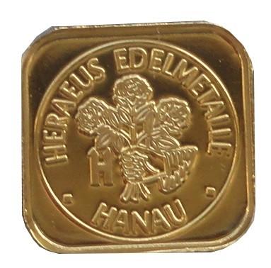 Heraeus 1 gr Goldbarren 999/1000 Feingoldbarren
