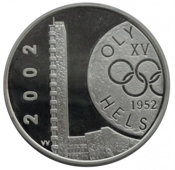 Finnland 10 Euro Silbermünze Olympiade in Helsinki 2002 Polierte Platte
