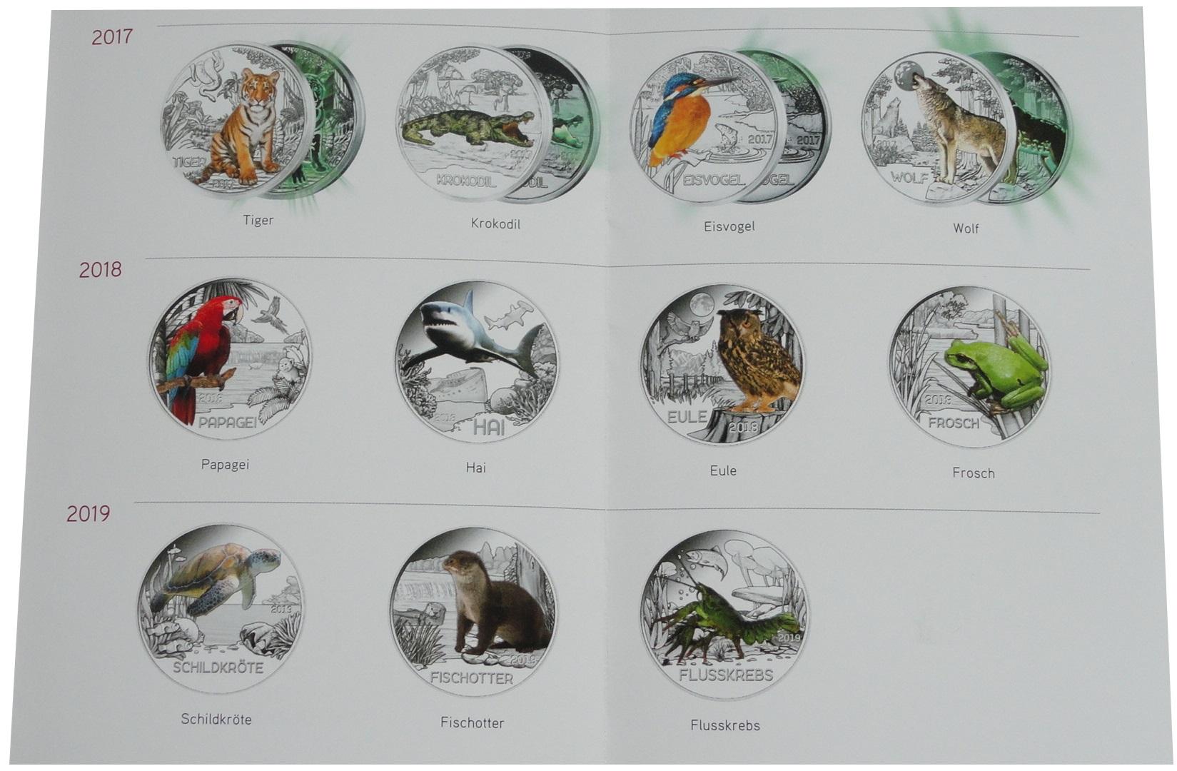 3 Euro Tier Taler Serie Aus österreich Beko Münzhandel