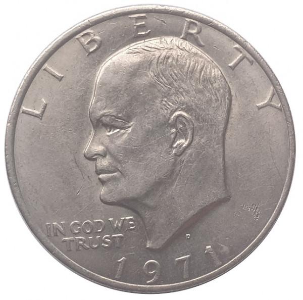 USA One Dollar Eisenhower Weißkopfseeadler 1971