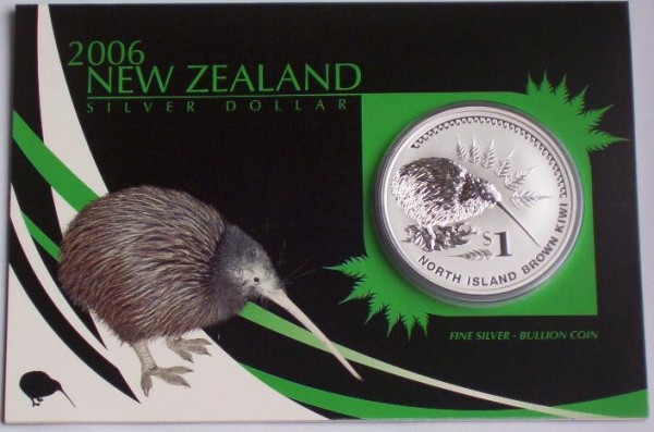 Neuseeland 1 Oz Silber Kiwi 2006 St Blister
