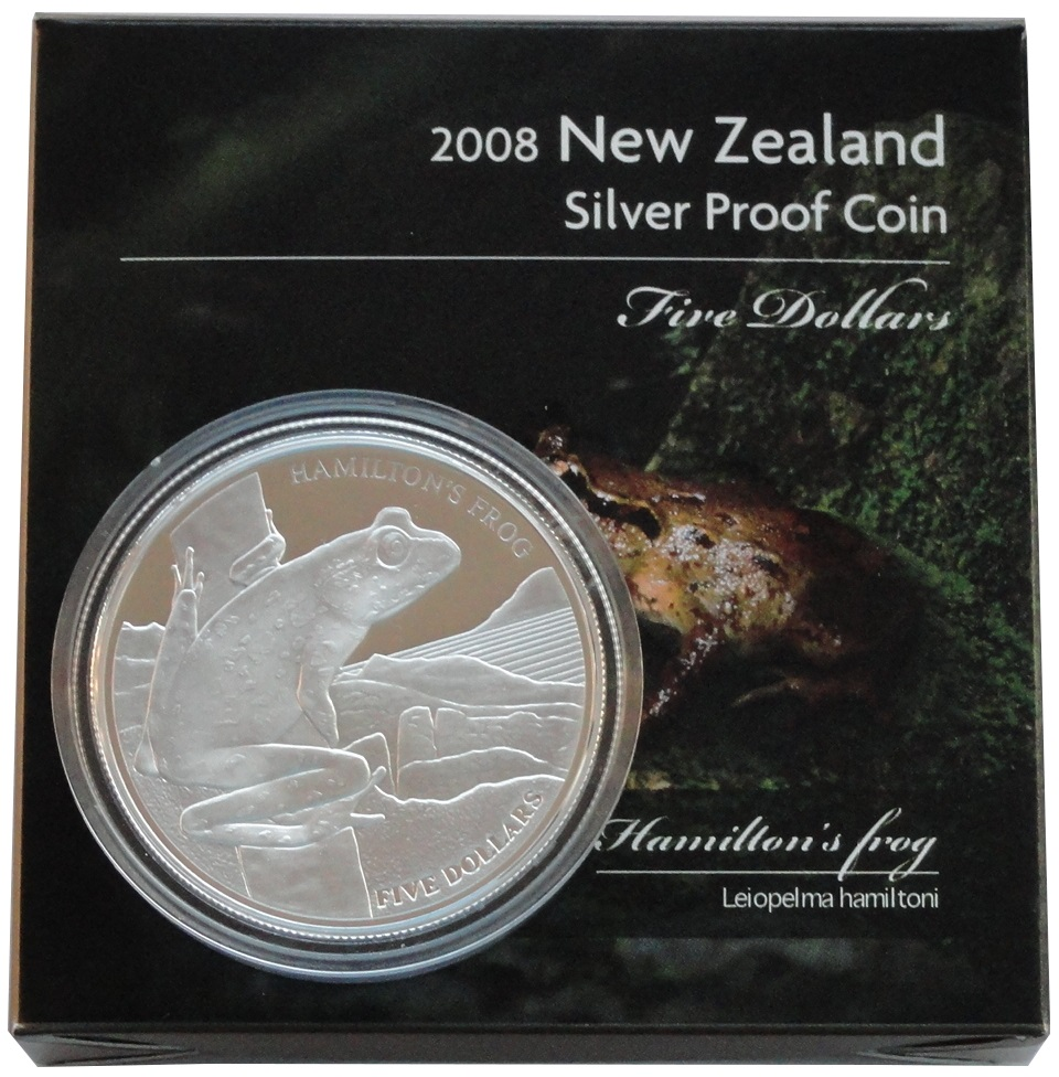 SUPER-SALE: 1 Oz Silber Hamilton Frog 2008 PP