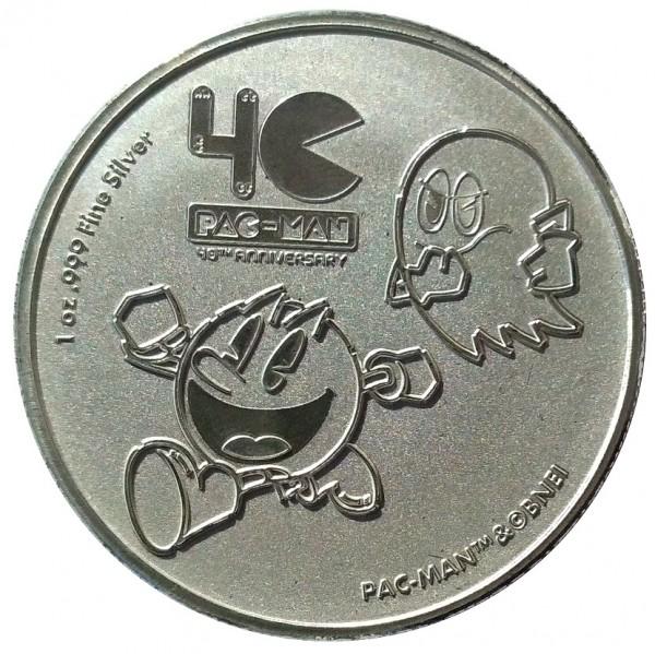 Niue 1 Oz Silber Pac Man 2020 - 40 Jahre Jubiläum. Anlagemünze nur 25.000 Stück!