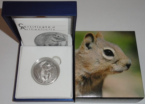 Palau 5 Dollar 1 Oz Silber Barbary Ground Squirrel 2013 Antik Finish