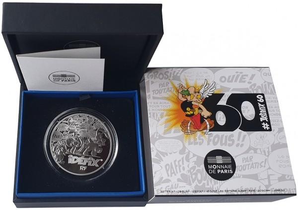10 Euro Silber Asterix - Idefix Frankreich 2019 Polierte Platte im Etui