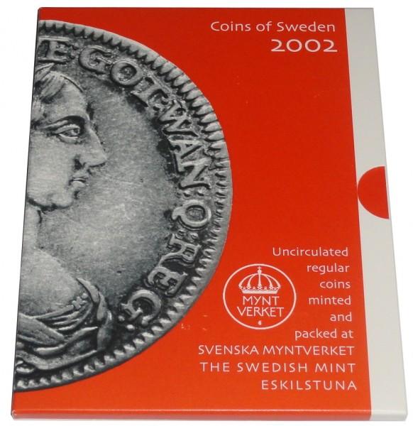 Schweden 16,50 Kronen Kursmünzensatz 2002 im Folder