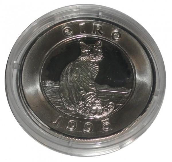 Irland 25 Ecu Silbermünze Katze 1995 Polierte Platte