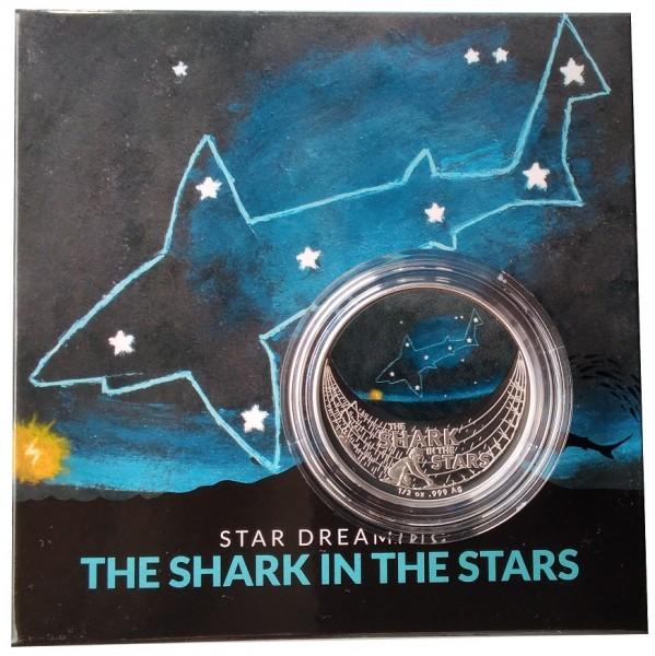 Australien 1/2 Oz Silber Hai in den Sternen - The Shark in the Stars 2021